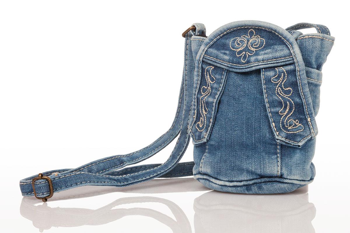 6e75e77aea55 Produktabbildung Hammerschmid Trachten Handtasche - JEANSTASCHE - denimblau.  für Zoom mit der Maus überfahren