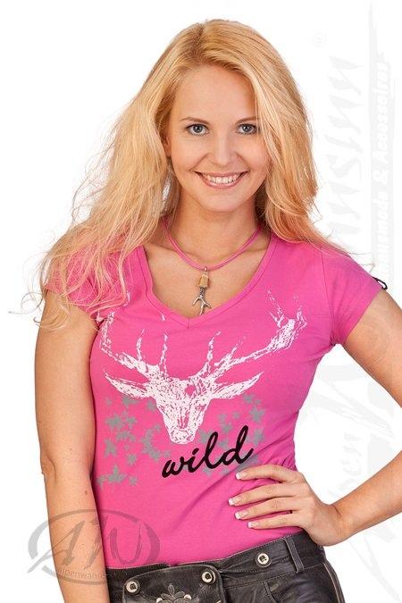 3df20216a277 Produktabbildung Hangowear Cooles Trachten Fun - Shirt 1 2 Arm - JEAN -  pink,