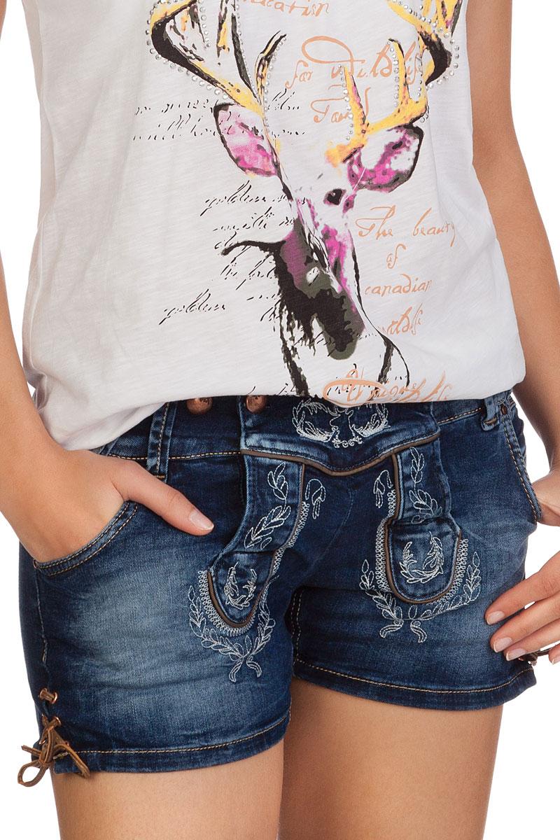45128e8acdf4 weitere Produktabbildung Hangowear Trachten Damen Jeanshose kurz - ANDREA -  blau