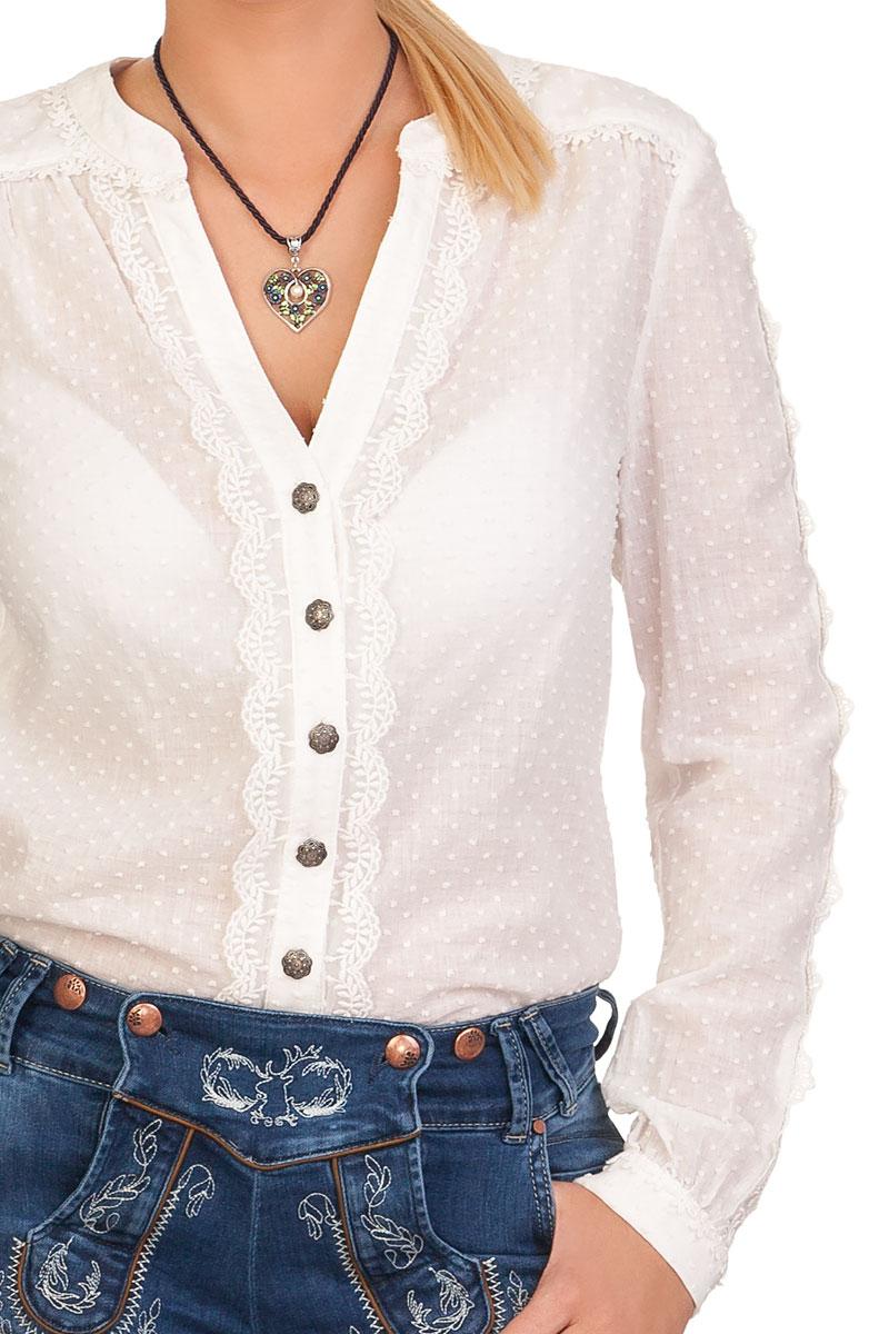 f707329230df weitere Produktabbildung Krüger Collection Trachten Bluse, langer Arm -  FEMKE - ecru